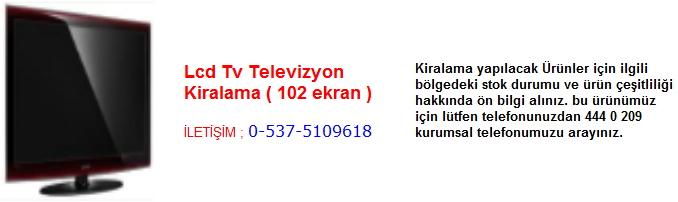 lcd televizyon tv kiralama