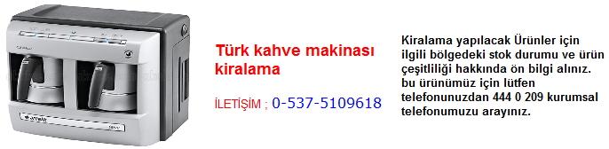 türk kahve makinası kiralama